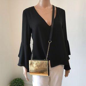 Steve Madden Gold Crossbody Wallet Bag